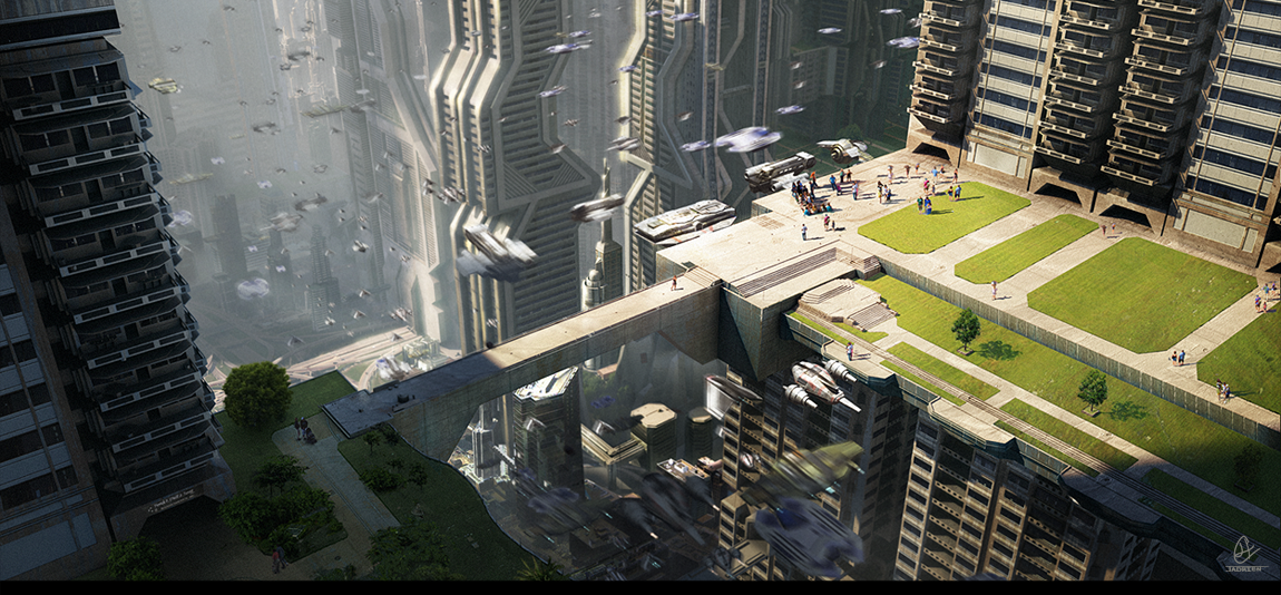 111306851209 - civilizationfiction sci fi city downtown by