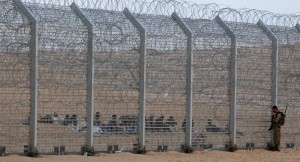 "A section of Israel's pimped out but totally affordable border ""fence""."