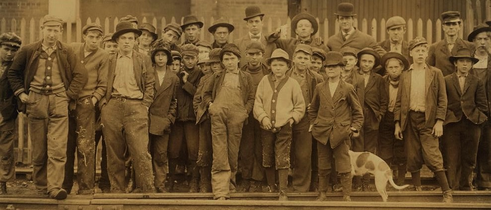 Boys and men employed by Brookside Mill circa 1910.