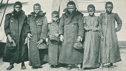 Pygmies who visited England in 1905