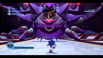 A Final Boss scene from Sonic The Hedgehog
