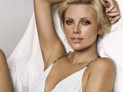 A probably retouched photo of Charlize Theron