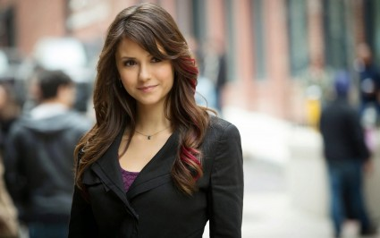 Nina Dobrev is apparently famous for something.