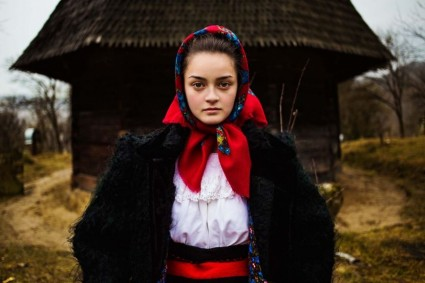Picture of girl in Maramures, Romania