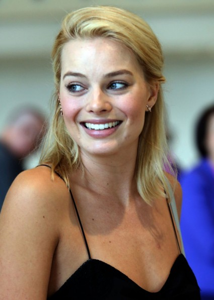Margot Robbie in a not completely posed shot.