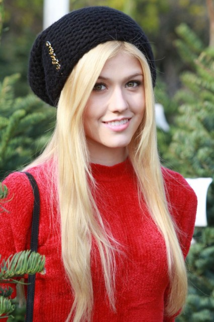 I have no earthly idea what Katherine McNamara's natural hair color is. But I doubt it's this.