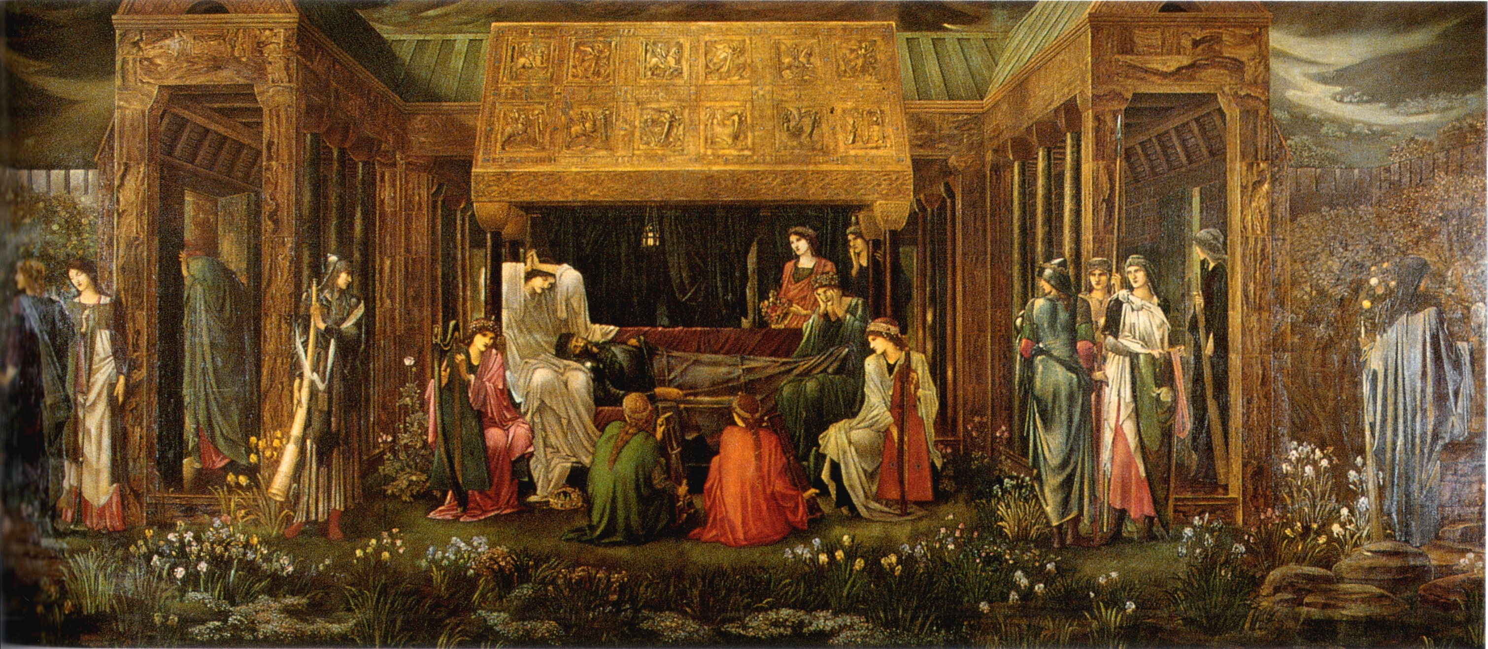 "Edward Burne-Jones: ""The Last Sleep of Arthur in Avalon"", 1881–1898."