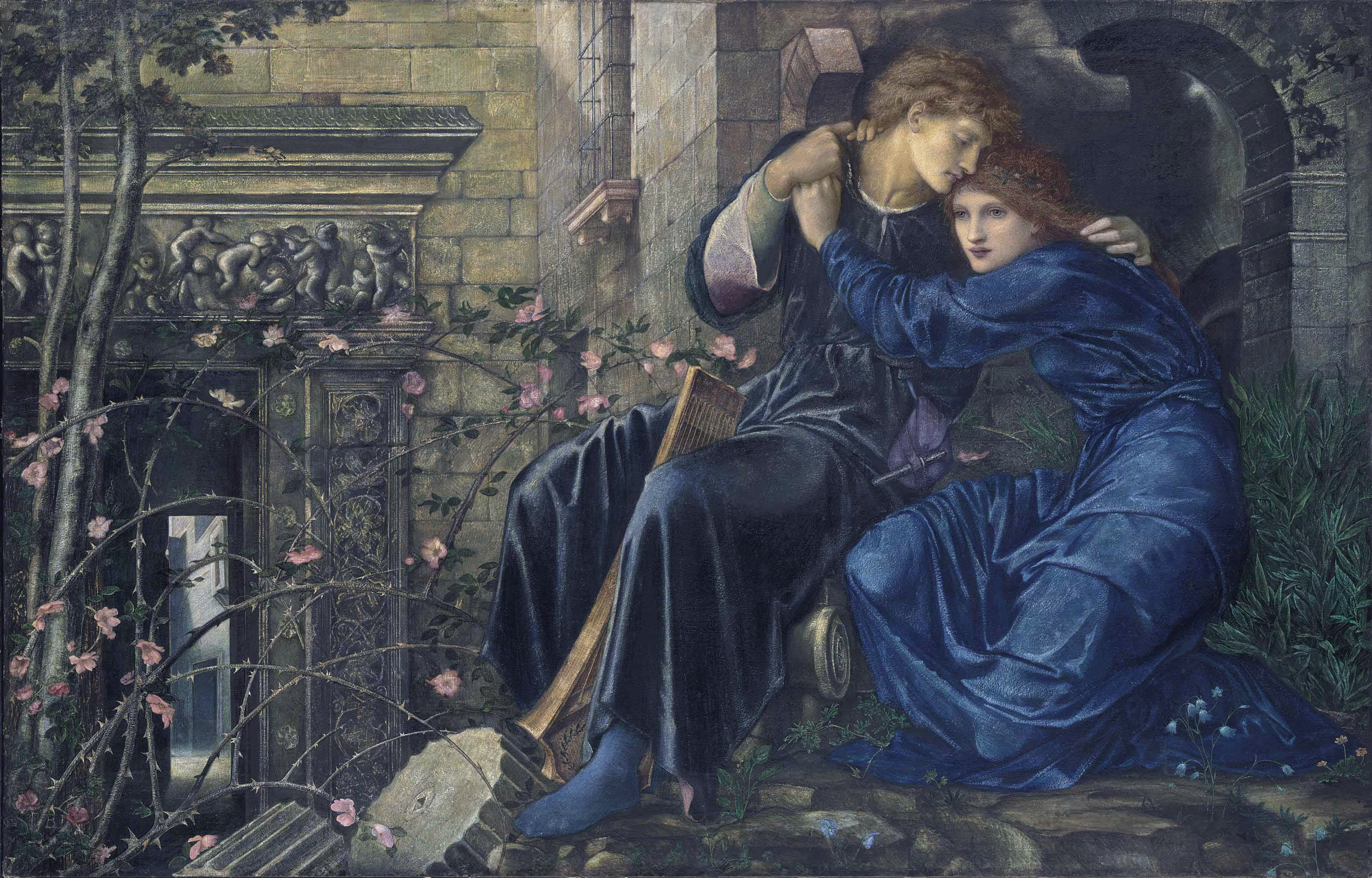 "Edward Burne-Jones, ""Love Among the Ruins"", 1894."