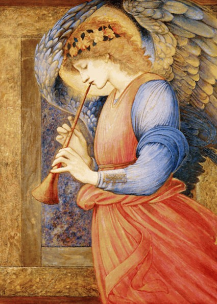 "Edward Burne-Jones: ""An Angel Playing a Flageolet"", 1877."