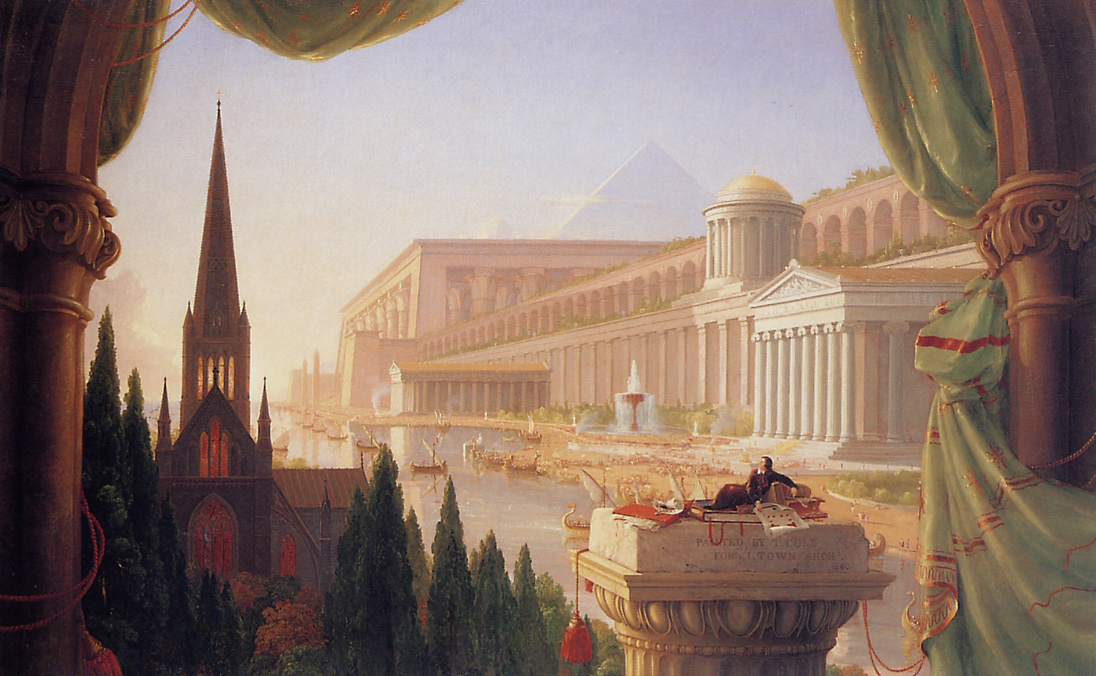 Thomas Cole, The Architect's Dream, oil on canvas (1840).