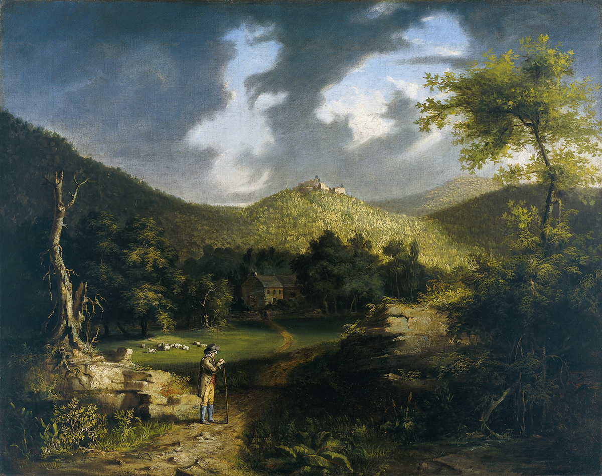 Thomas Cole, View of Fort Putnam, oil on canvas, 1824-25.