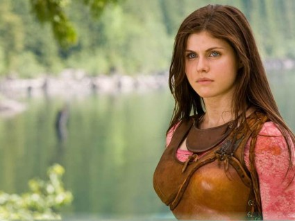 "Alexandra Daddario (sporting her ""No Excessive Eyeliner"" look) in Percy Jackson."