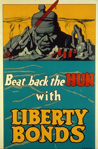 Beat Back the Hun with Liberty Bonds. Poster by F. Strothmann, 1918. Missouri Historical Society Photographs and Prints Collections. Scan © 2006, Missouri Historical Society.