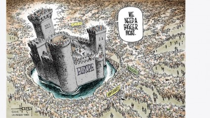 europe-needs-bigger-moat-against-muslims-toon