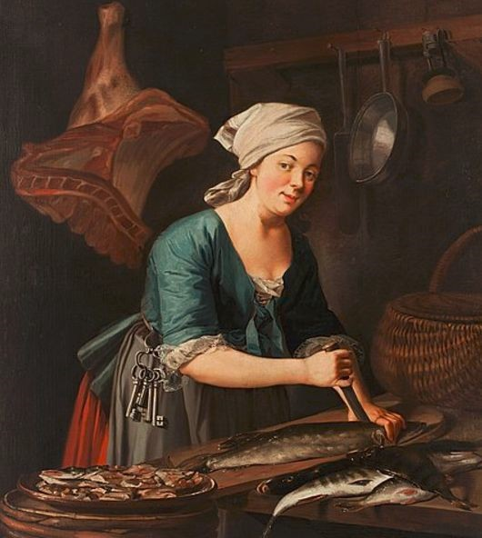A Woman Cleaning Fish – Pehr Hilleström