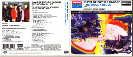 Cover art for the Moody Blues epoch-making album Days of Future Past, recorded in stereo with the London Philharmonic Orchestra. A monolith stereolith of implicit White Supremacy.