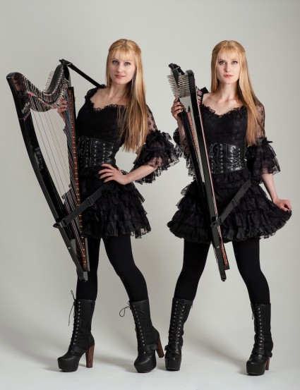 Camille and Kennerly, the Harp Twins